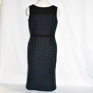 Tory Burch navy black sleeveless sheath dress sz 8
